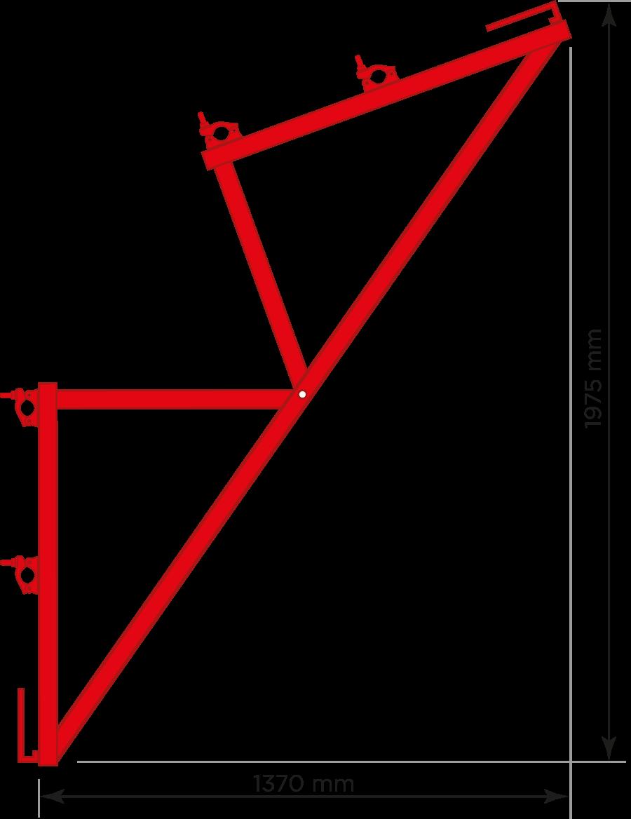 Heavy Duty System Loading Bay Gate Arms (Double Handrail)